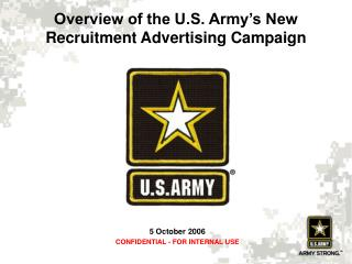 Overview of the U.S. Army s New Recruitment Advertising Campaign