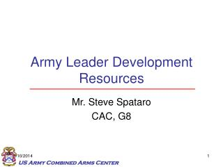 Army Leader Development Resources