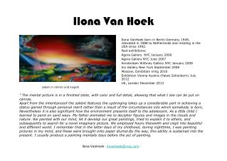 Ilona Van Hoek