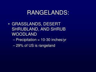 RANGELANDS:
