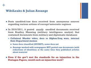 WikiLeaks & Julian Assange