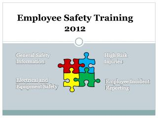 Employee Safety Training 2012