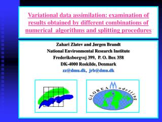 Variational data assimilation: examination of results obtained by different combinations of numerical  algorithms and s