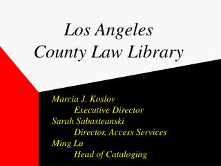 Los Angeles  County Law Library