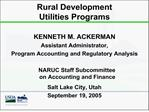 Rural Development  Utilities Programs