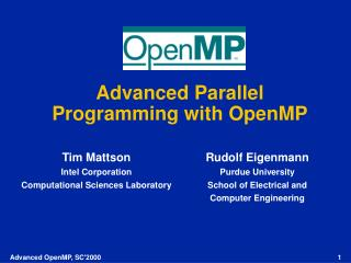 Advanced Parallel Programming with OpenMP