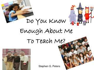 Stephen G. Peters
