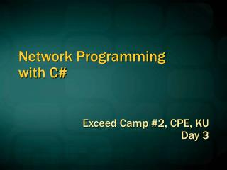 Network Programming  with C#