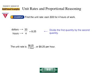 Unit Rates and Proportional Reasoning