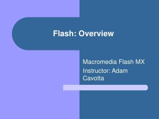 Flash: Overview