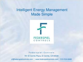Intelligent Energy Management  Made Simple