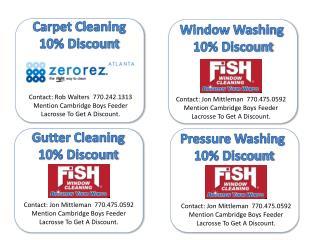 Window Washing  10% Discount