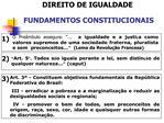 DIREITO DE IGUALDADE