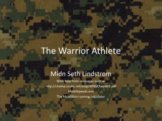 The Warrior Athlete