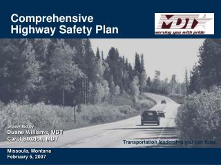 Comprehensive Highway Safety Plan