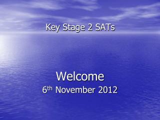 Key Stage 2 SATs
