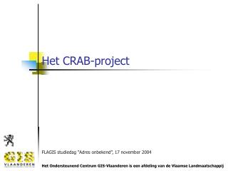 Het CRAB-project