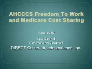 AHCCCS Freedom To Work and Medicare Cost Sharing