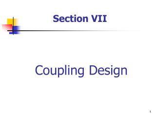 Coupling Design