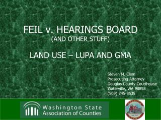 FEIL v. HEARINGS BOARD (AND OTHER STUFF)