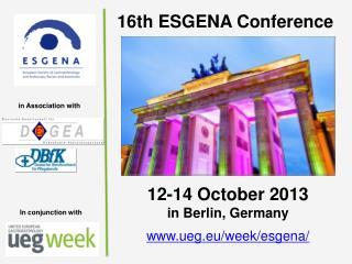 16th ESGENA Conference