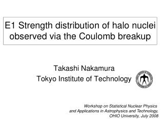 E1 Strength distribution of halo nuclei observed via the Coulomb breakup