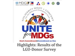 Highlights: Results of the LGU-Donor Survey