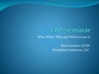EAP seminar