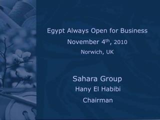 Hany El Habibi Chairman