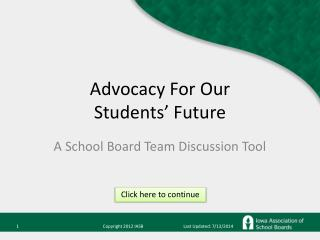 Advocacy For Our Students' Future