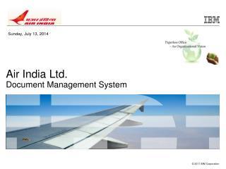 Air India Ltd.  Document Management System