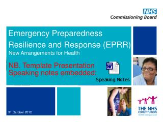 Emergency Preparedness Resilience and Response (EPRR)