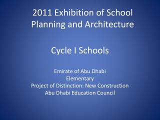 Cycle I Schools