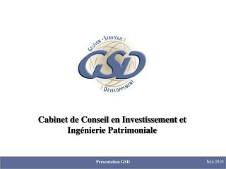 Cabinet de Conseil en Investissement et Ingénierie Patrimoniale