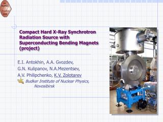 Compact Hard X-Ray Synchrotron Radiation Source with Superconducting Bending Magnets (project)