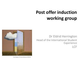 Post offer induction working group
