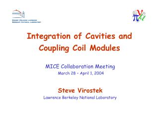 Integration of Cavities and Coupling Coil Modules