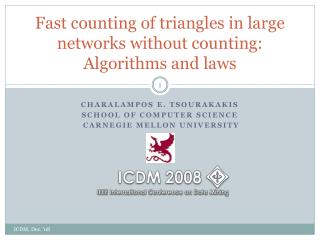 Fast counting of triangles in large networks without counting: Algorithms and laws