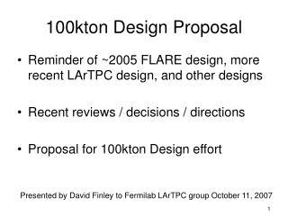 100kton Design Proposal