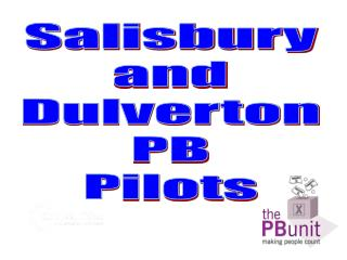 Salisbury and Dulverton PB Pilots
