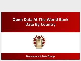 Open Data At The World Bank Data By Country