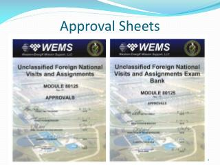 Approval Sheets
