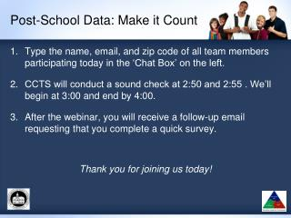 Post-School Data: Make it Count