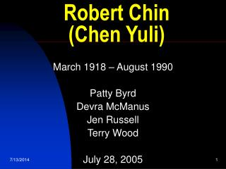 Robert Chin  (Chen Yuli)
