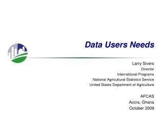 Data Users Needs
