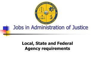 Jobs in Administration of Justice