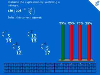 Evaluate the expression by sketching a triangle. {image} Select the correct answer: