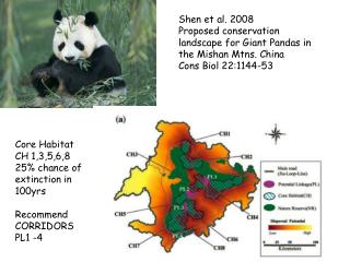 Shen et al. 2008  Proposed conservation landscape for Giant Pandas in the Mishan Mtns. China  Cons Biol 22:1144-53