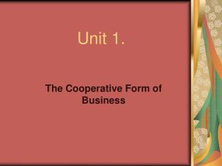 Unit 1.