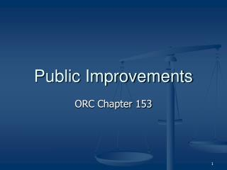 Public Improvements